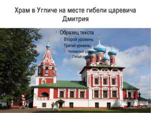 Храм в Угличе на месте гибели царевича Дмитрия