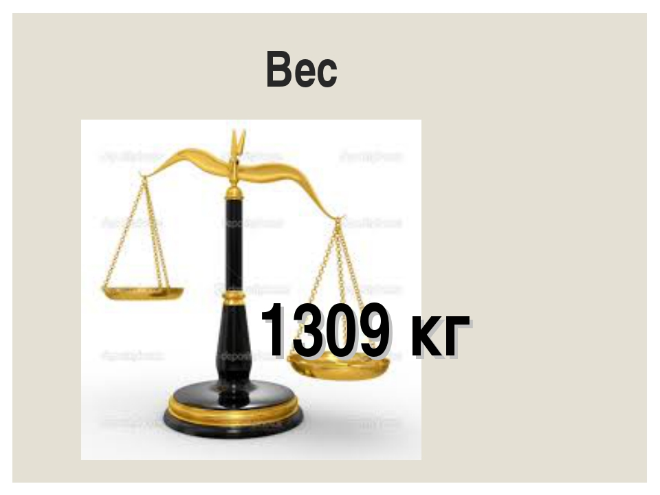 Вес 1309 кг