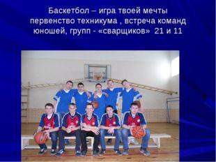 Баскетбол – игра твоей мечты первенство техникума , встреча команд юношей, гр