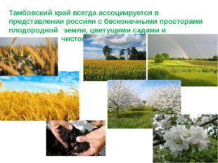 Тамбовский край всегда ассоциируется в представлении россиян с бесконечными п