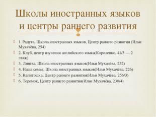 1. Радуга, Школа иностранных языков, Центр раннего развития (Ильи Мухачёва, 2