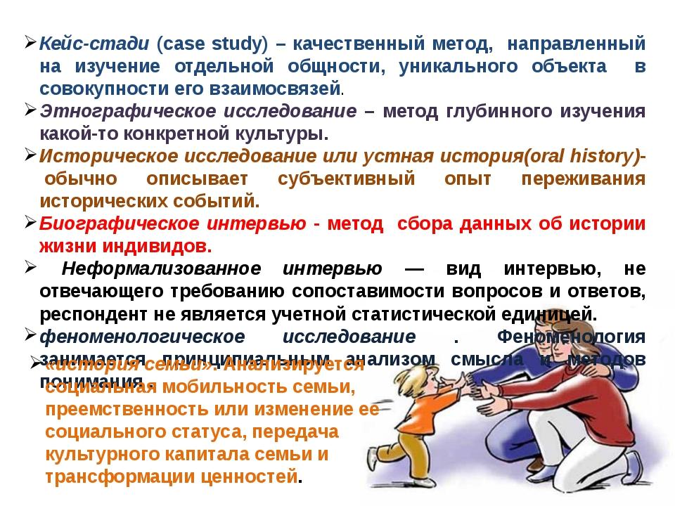 Кейс-стади (case study) – качественный метод, направленный на изучение отдель...