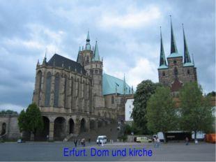 Erfurt. Dom und kirche