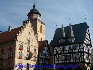 Alsfeld. Rathaus und Walpurgiskirche