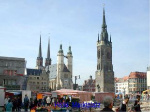 Halle. Marktplatz