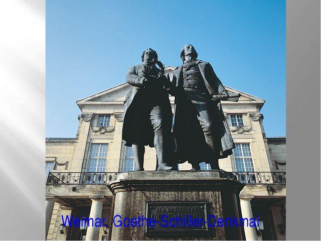 Weimar. Goethe-Schiller-Denkmal