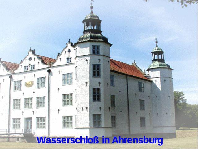 Wasserschloß in Ahrensburg