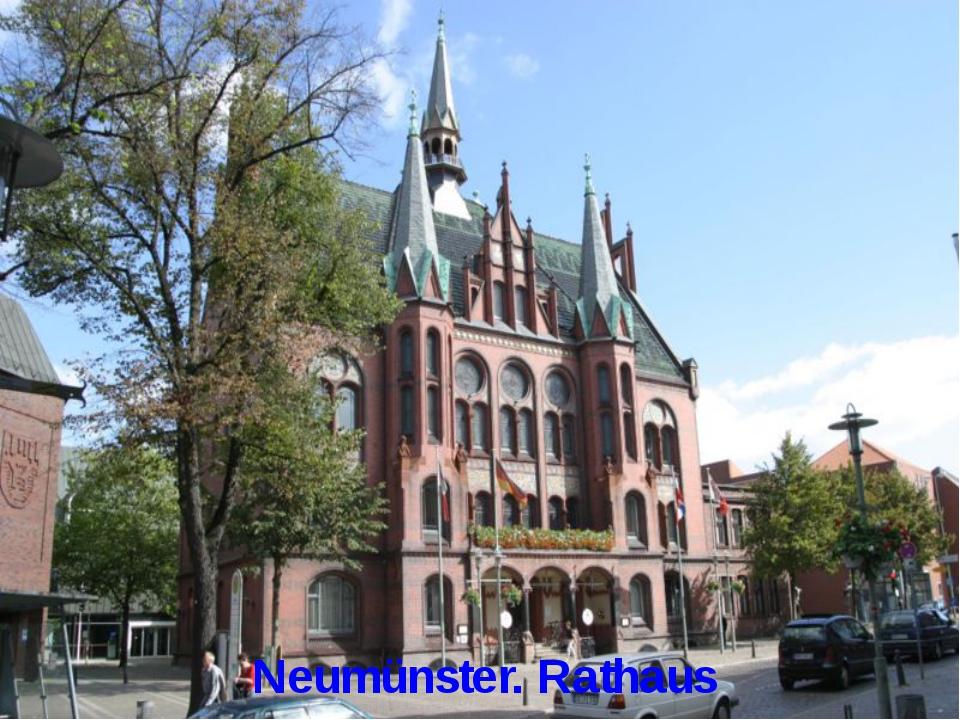 Neumünster. Rathaus
