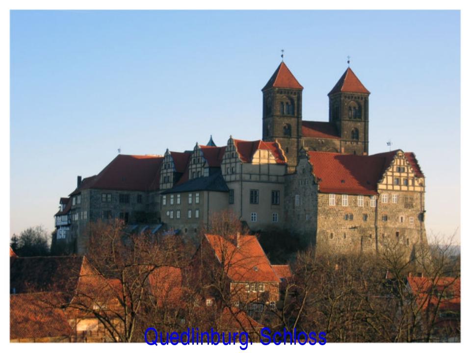 Quedlinburg. Schloss