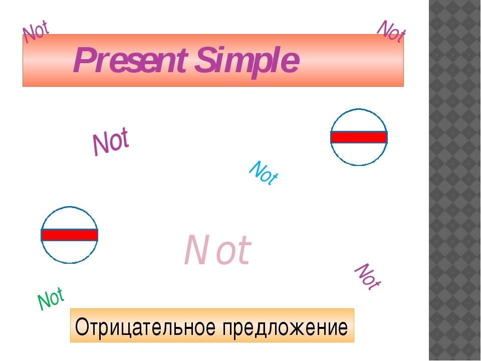 Present Simple Отрицательное предложение Not Not Not Not Not Not Not