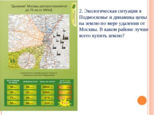 2. Экологическая ситуация в Подмосковье и динамика цены на землю по мере удал