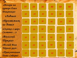 «Вечера на хуторе…» 10 К какой повести из сборника «Вечера на хуторе близ Ди