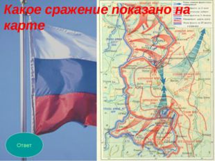 Ответ Какое сражение показано на карте