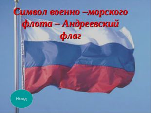Назад Символ военно –морского флота – Андреевский флаг