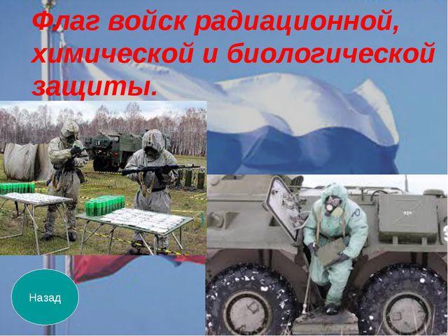 Назад Флаг войск радиационной, химической и биологической защиты.
