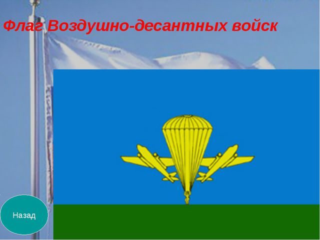 Назад Флаг Воздушно-десантных войск