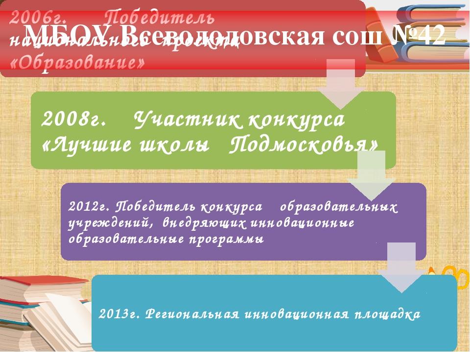 МБОУ Всеволодовская сош №42