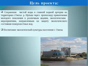 Сохранение чистой воды в главной водной артерии на территории г.Омска р. Ирт