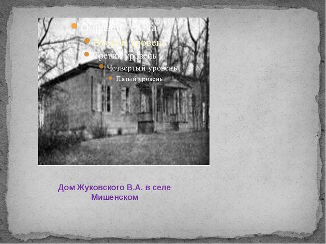 Дом Жуковского В.А. в селе Мишенском