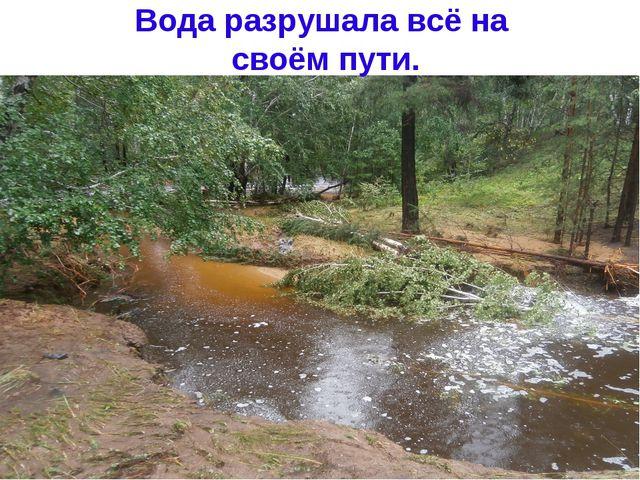 Вода разрушала всё на своём пути.