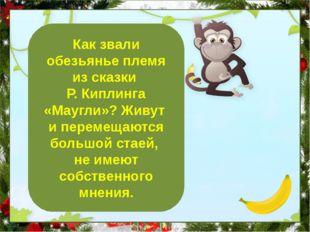 Бандерлоги Как звали обезьянье племя из сказки Р. Киплинга «Маугли»? Живут и