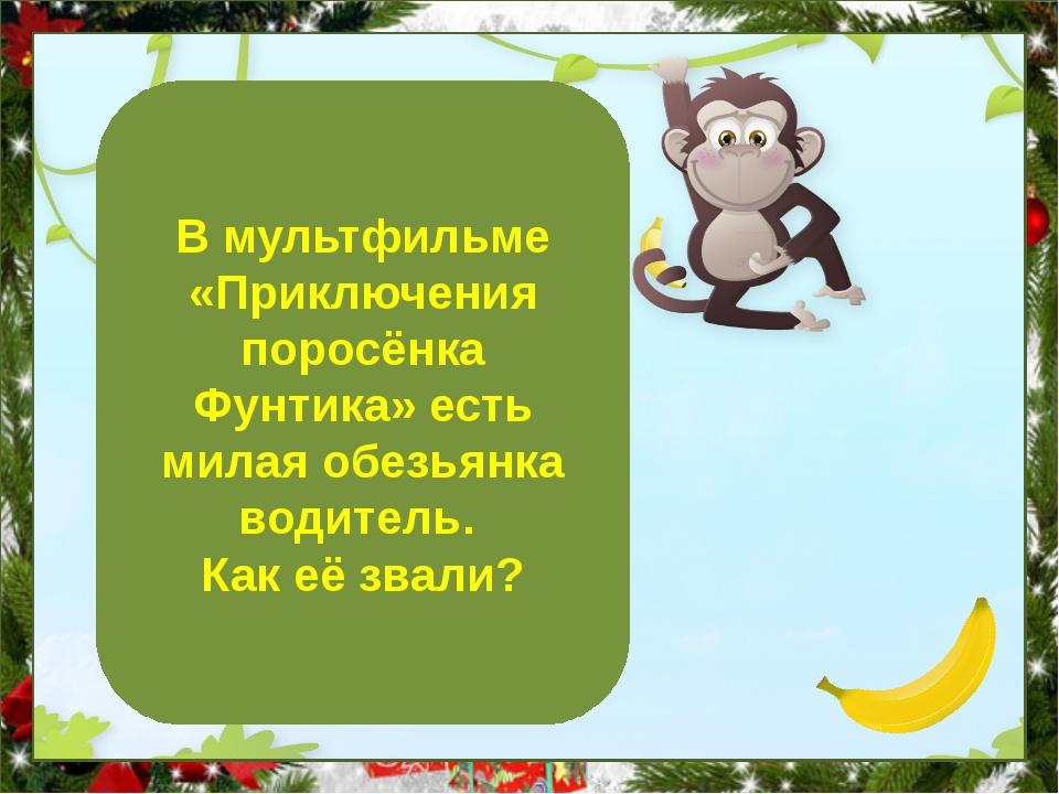 Бамбино В мультфильме «Приключения поросёнка Фунтика» есть милая обезьянка в...