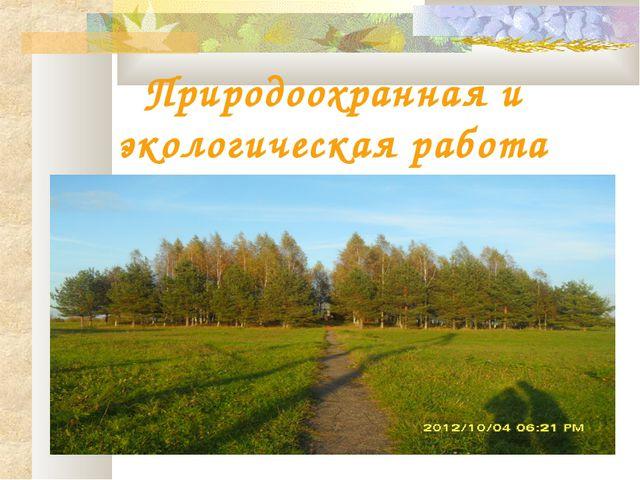 Природоохранная и экологическая работа