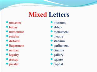 Mixed Letters umsemu bebay numontme retteha distamu liaparmetn nemaic legalry