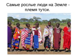 Самые рослые люди на Земле - племя тутси.
