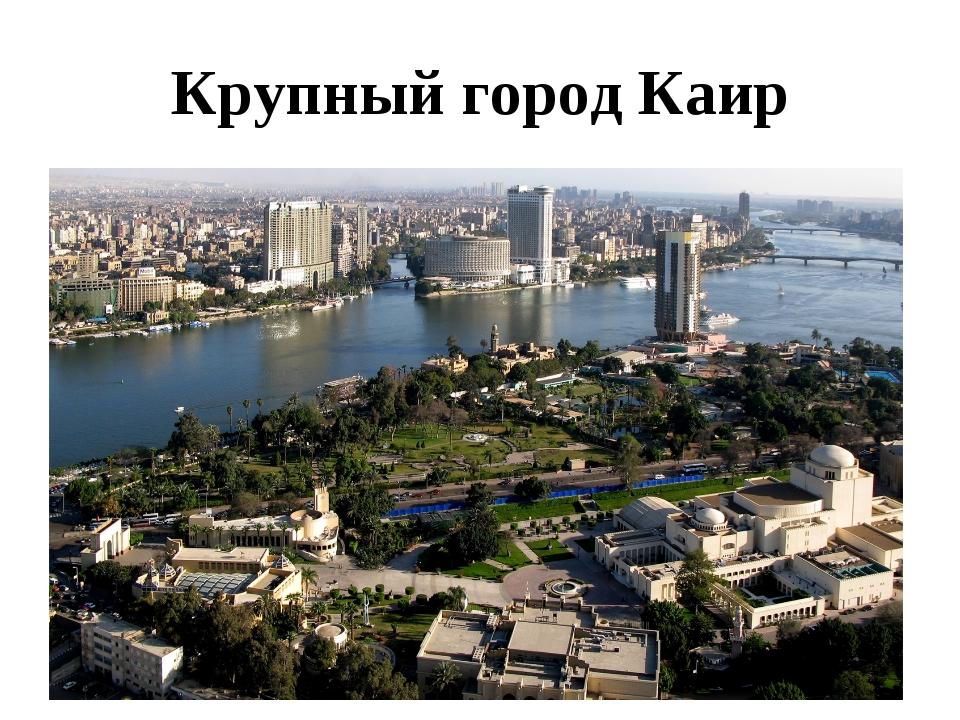 Крупный город Каир