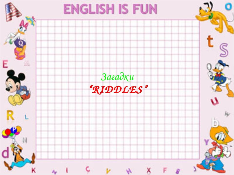 "Загадки ""RIDDLES"""