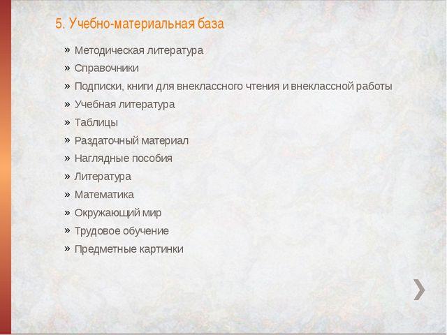 Методическая литература Справочники Подписки, книги для внеклассного чтения и...