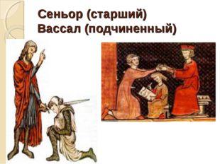 Сеньор (старший) Вассал (подчиненный)