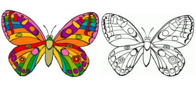 девочкам - картинки бабочек для раскраски
