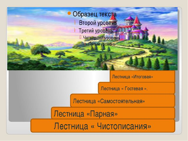 Лестница « Чистописания» Лестница «Парная» Лестница «Самостоятельная» Лестни...