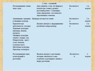 2 этап – основной. 4 Рассматривание семян через лупу. Дать понятие о том, что