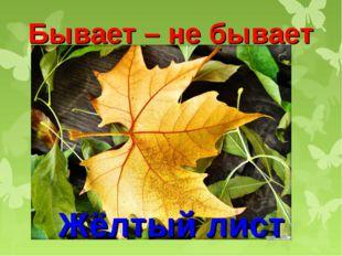 Бывает – не бывает Жёлтый лист