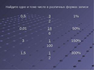 Найдите одно и тоже число в различных формах записи 0,53 21% 0,0118 650%