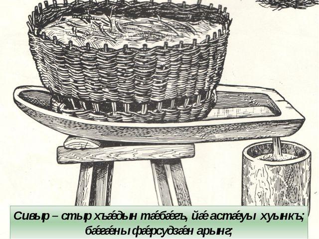 Сивыр – стыр хъǽдын тǽбǽгъ, йǽ астǽуы хуынкъ; бǽгǽны фǽрсудзǽн арынг;