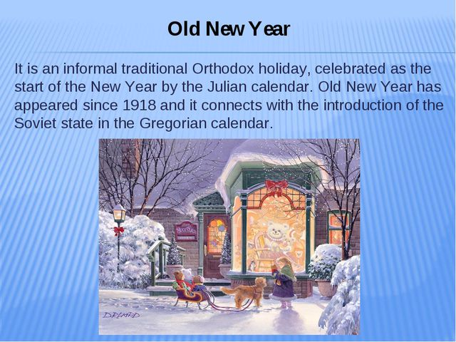It is an informal traditional Orthodox holiday, celebrated as the start of th...