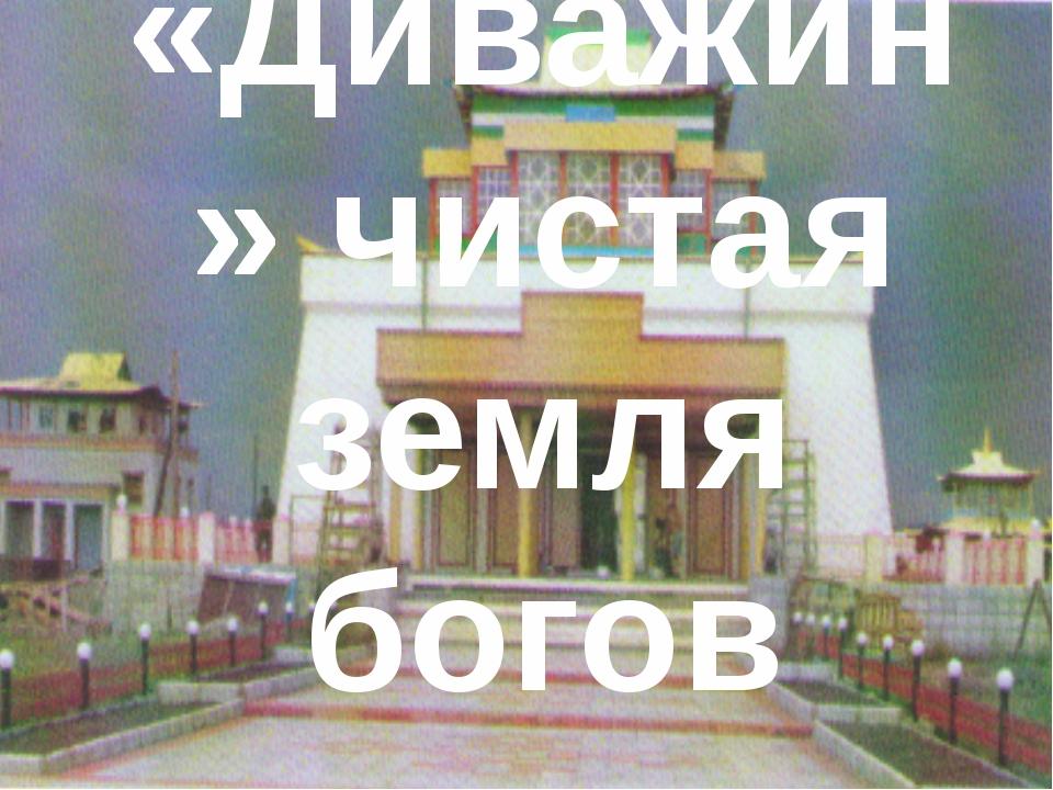 «Диважин» чистая земля богов