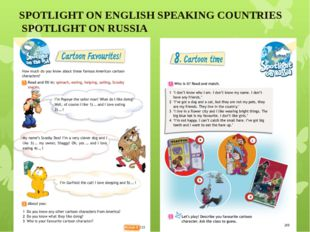 SPOTLIGHT ON ENGLISH SPEAKING COUNTRIES SPOTLIGHT ON RUSSIA