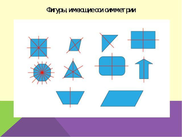 Фигуры, имеющие оси симметрии