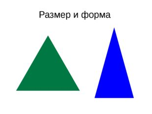 Размер и форма