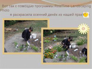 Вот так с помощью программы RealTime Landscaping Photo я раскрасила осенний