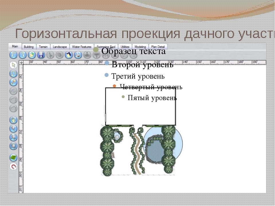 Горизонтальная проекция дачного участка