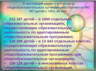 В настоящий момент в России в общеобразовательных организациях обучается 481