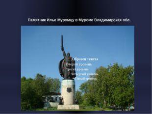 Памятник Илье Муромцу в Муроме Владимирская обл.