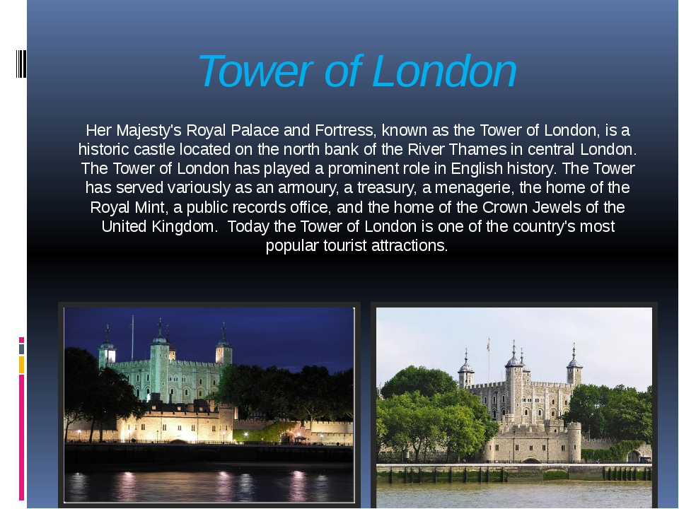 Tower of London Her Majesty's Royal Palace and Fortress, known as the Tower o...