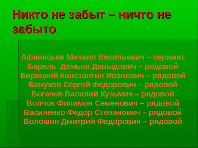Никто не забыт – ничто не забыто Афанасьев Михаил Васильевич – сержант Барель...
